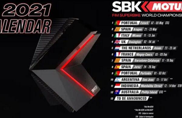 Calendario SBK SSP 2021 aggiornato