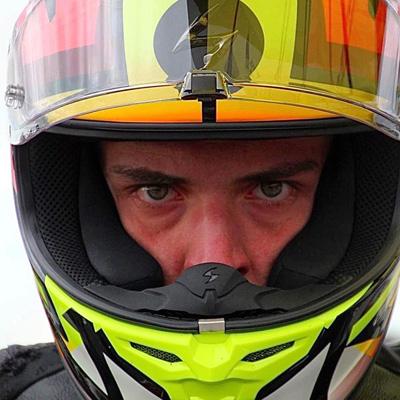 Lorenzo Gasperini #55 con il casco