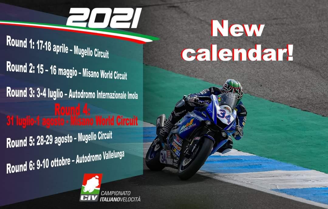Calendario CIV 2021